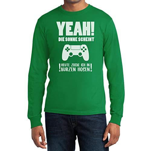 Gamercadeau - Vandaag vok ik in korte broeken mannen T-shirt met lange mouwen