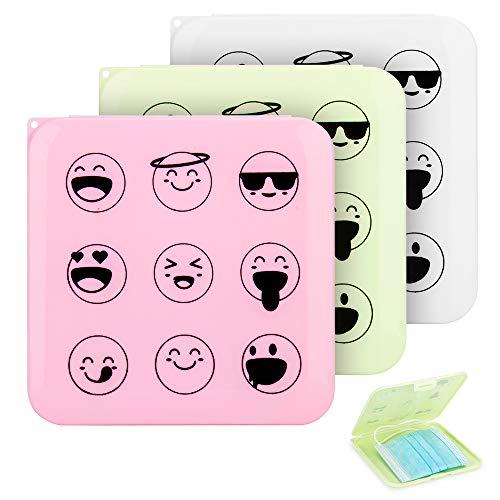 Caja de Almacenamiento de Máscaras,Caja Portátil de Cara Máscara de Algodón Contenedor,Plástico Carpeta Reutilizable,A prueba de Polvo Fácil de llevar Máscaras de Protección Funda Organizador (3PCS)
