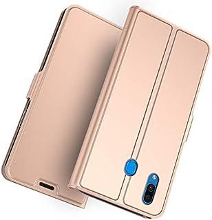 Samsung Galaxy A30 財布 シェル, Samsung Galaxy A30 シェル, MeetJP プレミアム レザー ジッパー 財布職能 al 女性用 リムーバブル カード スロット ポケット ポーチ フリップ 保護 カバー の Samsung Galaxy A30 - Rose Gold