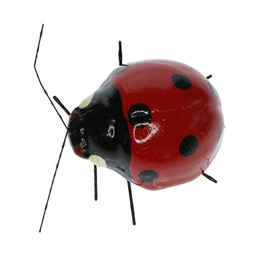 9 cm Lady Bug Coccinelle terrarium Miniature Figurine Craft Ornement Jaune