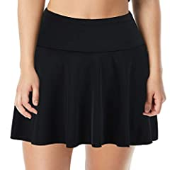 Swim Skirt Built-in triangle brief for additional comfort and safety Suitable to match different tankini/bikini/other clothes tops. Casual and skinny, great choice for sport or swim wear High waisted and elastic waistband of this skirted swim bottom ...