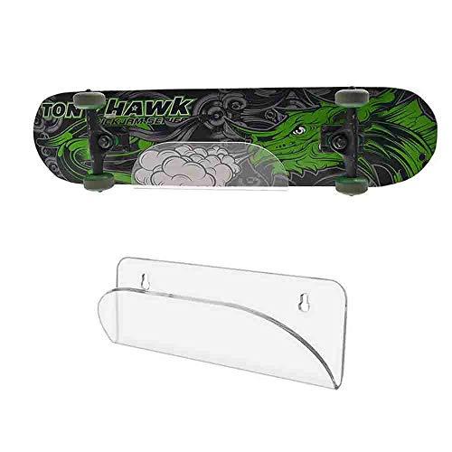 HAI+ Halterung für Skateboard Wandaufhängung, unsichtbarer transparenter Wandhalterung, Ausstellungsständer, geeignet für Skateboards, Longboards, Snowboards, Snowboards, und elektrische Skateboards