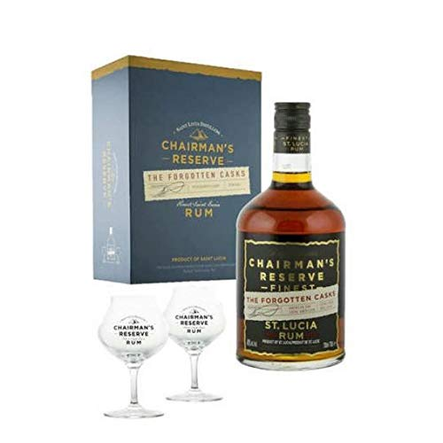 ST. LUCIA DISTILLERS RON CHAIRMAN'S RESERVE FINEST THE FORGOTTEN BARRIL 70 CL GIFT PACK