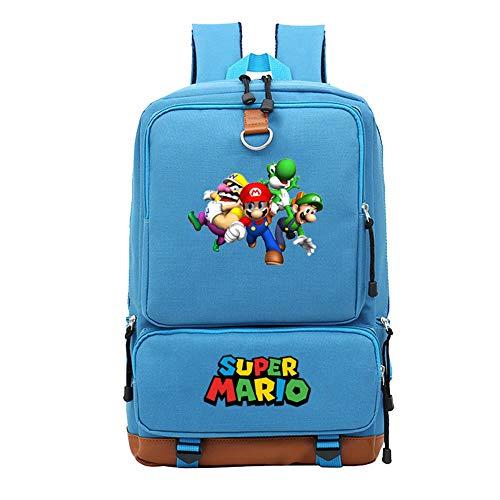 Luxe Grand Super Mario Bros Sac à Dos, Sac de Jeu étudiants Livre Ordinateur Portable Sac de Voyage épaule Cartoon Cosplay