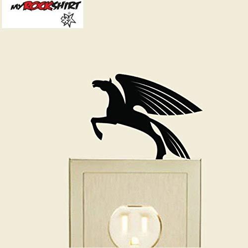 myrockshirt Steckdosenaufkleber/Lichtschalter Pegasus Pferd ca.10cm Aufkleber,Sticker,Decal,Autoaufkleber,UV&Waschanlagenfest,Profi-Qualität,Wandtattoo