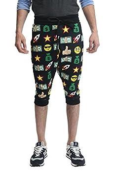 emoji jogger shorts