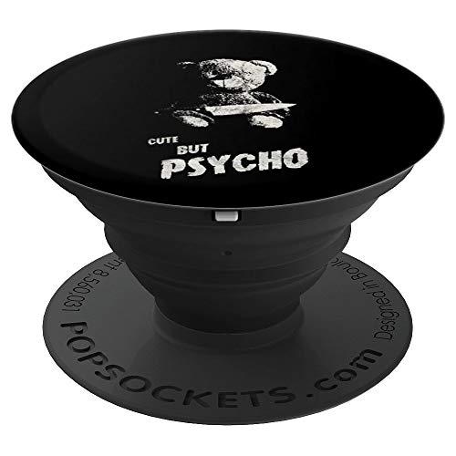 Occult Gothic Grunge Cute But Psycho Teddy Bear Satan Black - PopSockets Ausziehbarer Sockel und Griff für Smartphones und Tablets
