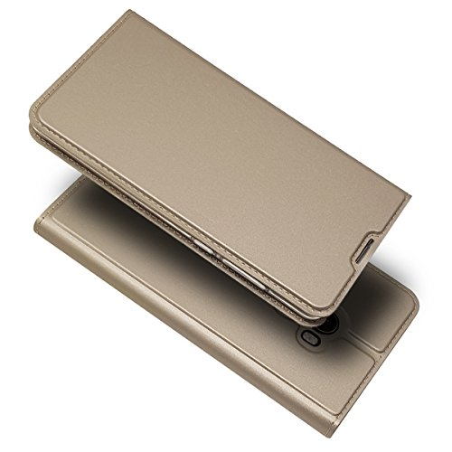 Funda Carcasa para XIAOMI REDMI 5 Plus [Ultra-Slim] PU Cuero Libro Cartera Flip, Dorado, Xiaomi Mi Mix 2