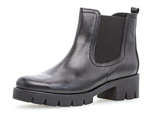 Gabor Damen Ankle Boots, Frauen Chelsea Boots,Best Fitting,Reißverschluss, Frauen weibliche Lady Ladies feminin elegant Women,schwarz,40.5 EU / 7 UK