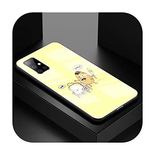 Carcasa de cristal templado para Samsung A51, A50, A71, 5G, A70, A81, A91, Fundas A40, A31, A21s, A10, Coque, T06, para Samsung A41