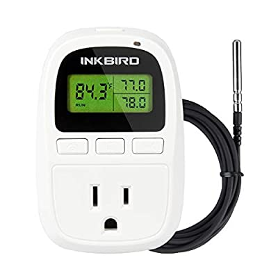Inkbird C206T 1500W Heat Mat Temperature Controller, Day and Night Thermostat, 6.56FT NTC Sensor, F and C Degree, -58-212°F