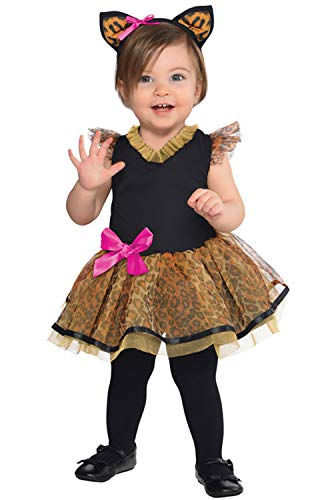 amscan 846774 Baby Cutie Cat Costume 0-6 Months Old