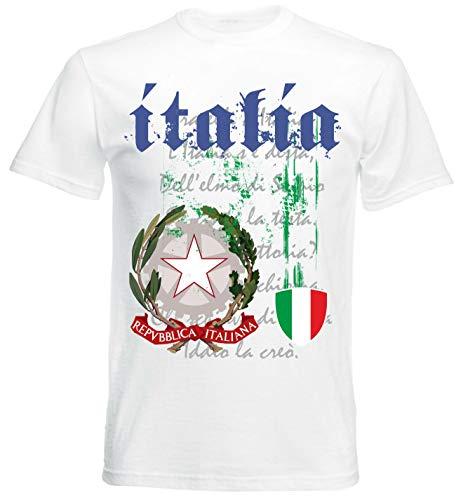 MAGLIETTA STAMPATA ITALIA 100/% COTONE T SHIRT ITALY MANICA RAGLAN