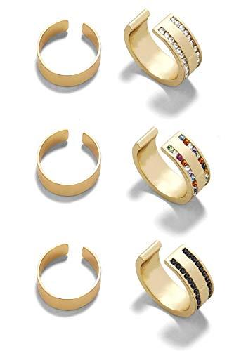 ZESSICA (ゼシカ) イヤリング イヤーカフ レディース メンズ 人気 ブランド 『マデュアシリーズ』 両耳 リング (ゴールド3種類セット)