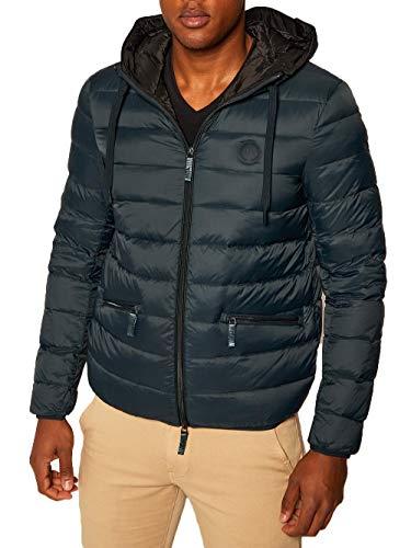 Armani Exchange AX Herren Down Jacket Daunenmantel, Hellmarineblau/Schwarz, X-Large