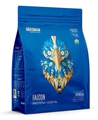 Birdman Falcon Protein Proteina Vegetal USDA Organica En Polvo (Vegana), 22gr Proteina, 60 Porciones Sabor Vainilla 1.8kg