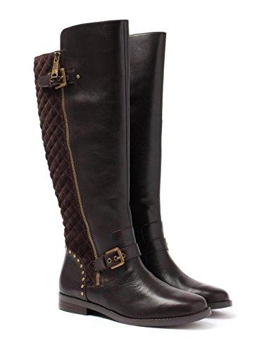 Lauren Ralph Lauren - Botas de Cuero para mujer Marrón marrón oscuro, color Marrón, talla 36