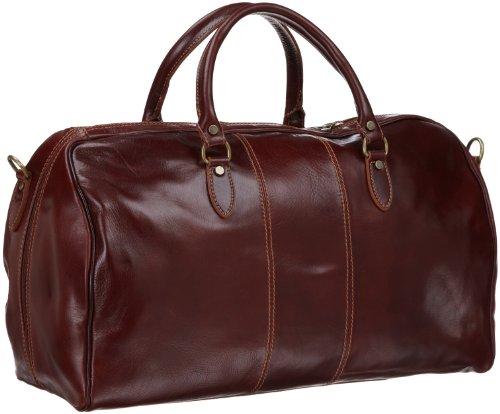 Leather weekender travel bag by Floto Luggage