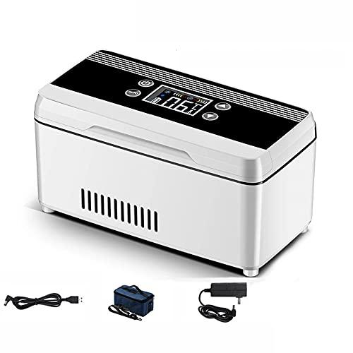 WUQIAO Mini Caja de congelación de insulina portátil Interferón Temperatura Constante 0-18 Display Pantalla LCD del congelador montado en el vehículo