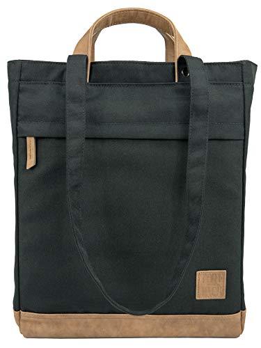 TOTEPACK 1 in 3 Rucksack-Tasche SCHWARZ Umhängetasche Unisex Tote-Bag | UNRIVALED