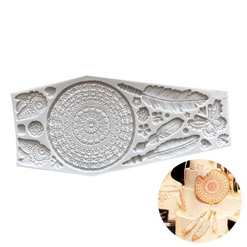 sina Feder Textur Silikon Kuchen Form-Feder strukturierte Schokolade Form-Feder Textur DIY Backwerkzeug-1Stück