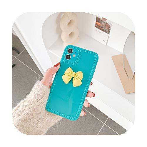 Funda para iPhone 11 12 Mini Pro Max XS Max X XR 7 8 Plus Candy Love Heart Soft TPU Back Cover - Azul para iPhone 7 8 SE2