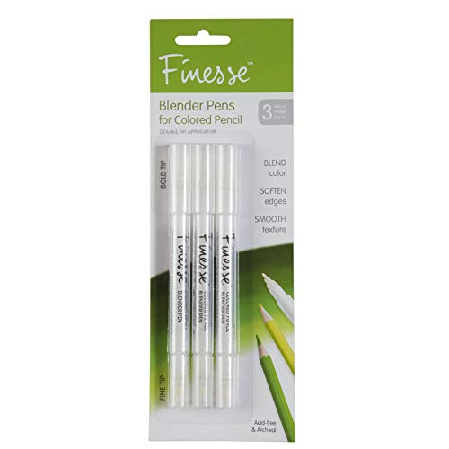 Speedball Art Products Finesse Artist Colored Pencil Blender, 3-Pack, Clear