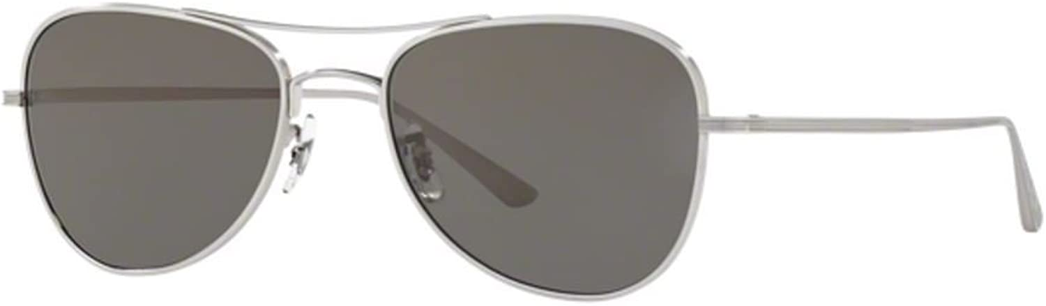 New Oliver Peoples OV 1198 ST 5254R5 Executive Suite SIlver Grey Sunglassses