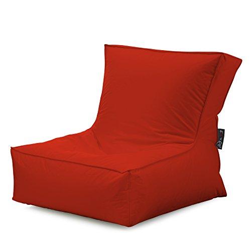 rouge Fauteuil simili cuir résine polyuréthane hydrofuge résistant aux déchirures pour extérieur et intérieur base cm. 90 x 82 x (H) 82 cm