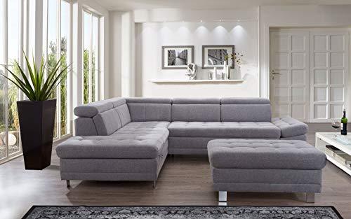 "Ecksofa günstig: Cavadore Sofa ""I"" in L-Form /   Ottomane kaufen  Bild 1*"