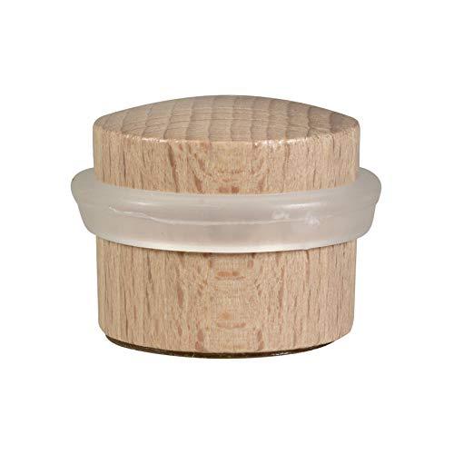 WAGNER Bodentürstopper Wood - Durchmesser Ø 40 x 38 mm, Buche massiv, selbstklebend, rückstandslos entfernbar - 15509611