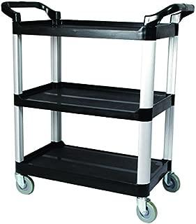 Winco UC-40K 3-Tier Utility Cart, 40-Inch x 19.75-Inch x 37.5-Inch, Black