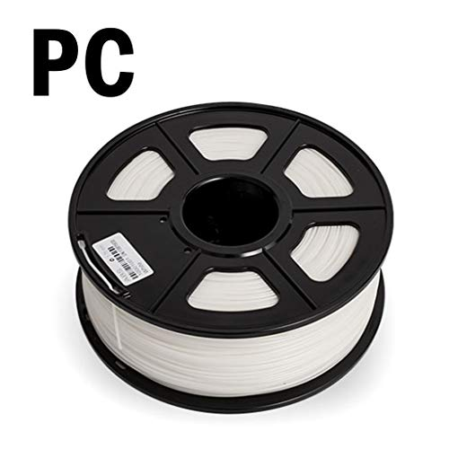 Hello 3D printing filament, PC filament white, used for 3D printer, 1.75mm/3.0mm optional (Size : 1.75mm)