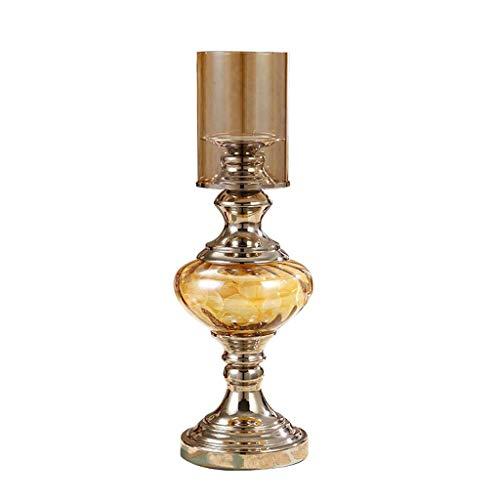 Kandelaars Europese Klassieke Glazen Kandelaars Kandelaars In De Woonkamer Woondecoraties Kandelaars Metalen Kandelaars Ambachten Kandelaars (Kleur: Messing, Maat: Groot)
