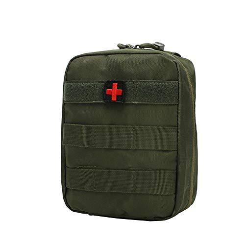 Profuroad Medizinische Tasche, faltbare Aufbewahrungstasche, multifunktionale Bauchtasche, Militär-Zubehör, Erste-Hilfe-Set, Klettern, Notfall-Tasche, Rot, armee-grün