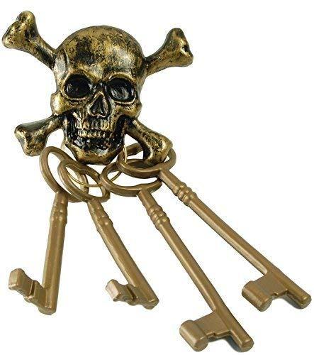 Fancy Me pour Hommes Femmes Or CLEFS Squelette Pirate Costume DÉGUISEMENT Costume Accessoire - One Size