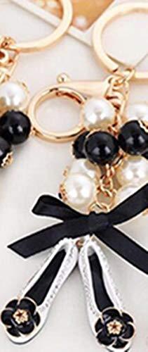 Sleutelhangers Voor Meisjesparel Schoenen Sleutelhanger Geborduurde Schoenen Autosleutel Ring Dames Tas Hanger Ornamenten Sleutelhanger Wit