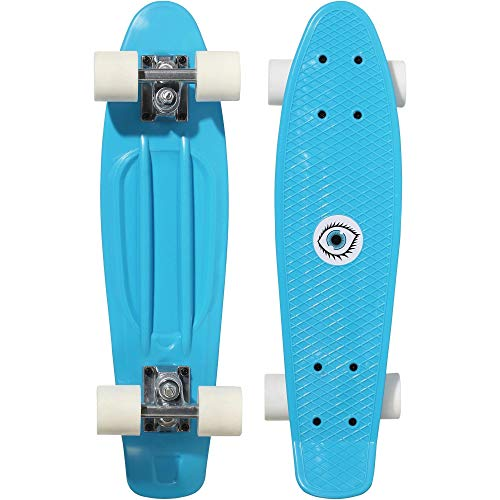 Oxelo Mini Skateboard Longboard Play 500 Kunststoff Blau Kinder Jugendliche Erwachsene 55 cm Länge Skaten Sport Cruisen