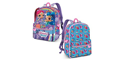 KARACTERMANIA Shimmer and Shine Rainbow-Reversible 2-in-1 Backpack Kinder-Rucksack, 40 cm, 13 liters, Blau (Blue)