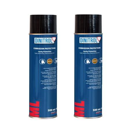 2 x Dinitrol ML Penetriermittel, Rostschutz, Hohlraumwachs, 500 ml Sprühdose, für Türen