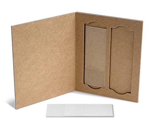 Heathrow HS9904 2-Place Cardboard Slide Holders (Pack of 36)