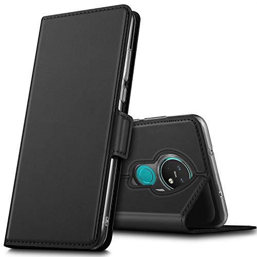 GEEMAI für Nokia 7.2 Hülle, für Nokia 6.2 Hülle, handyhüllen Flip Hülle Wallet Stylish mit Standfunktion & Magnetisch PU Tasche Schutzhülle passt für Nokia 7.2 Smartphone, Schwarz
