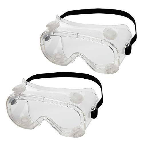 GUSTO Occhiali Protettivi da Lavoro Polipropilene Protezioni per gli occhi Laboratorio Antiappanno Occhiale Protettivo Occhiali Sicurezza e protezione Alta trasparenza (1 pezzo)