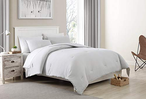 Morgan Home Fashions Jersey Duvet Cover Set- from Recycled Fibers, Soft Lightweight and Warm for All Year Round Comfort (Harbor Mist, Twin)