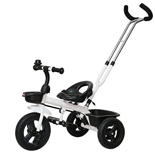 Triciclos 2 en 1 para niños Trikes 1,5 a 5 años Rueda trasera con freno Triciclo para niños Cinturón de seguridad de 2 puntos Barra de manija ajustable Trike para niños Peso máximo 25 kg Sillas de Pas