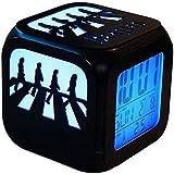YAOJIA Relojes despertadores Beatles Abbey Road Reloj Despertador Estéreo 3D Creativo, Luz De Noche LED Reloj Digital Electrónico para Dormitorio Junto A La Cama - Gradiente De Colores