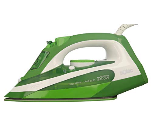 Solac PV2107 - Plancha (Plancha vapor-seco, Suela de acero inoxidable, 2 m, 120 g/min, Verde, Blanco, 30 g/min)