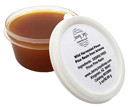 Kiefernharz für Bienenwachswickel, Bartbalsam & Weihrauch. Nachhaltig geerntetes Pinon Pine Resin aus Arizona 2 oz. von Jenny Joys Seife
