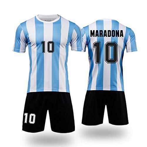 Fußballtrikot M3 Radon 10# Home Court Jersey Shirt Sport T-Shirt Sweatshirt Jugend Fußball Praxis Trikot Sport & Outdoor Fitness Weste Simplicity Rundhals Gr. 3XS, blau