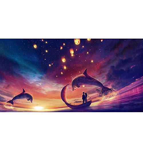 Rompecabezas: Amantes bajo Las Estrellas 300/500/1000/1500 Piezas para niños, Adolescentes, Adultos, Juguete, Manga, Rompecabezas, Regalo de cumpleaños para niños (Color : A, Size : 300PC)